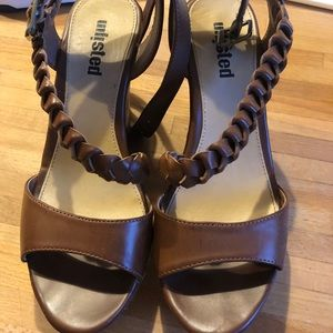 Women's wedges with braided detail size 7
